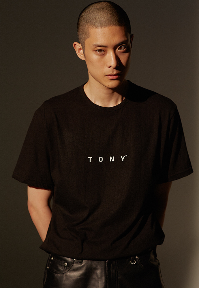 TONY Logo T-shirt_ Black