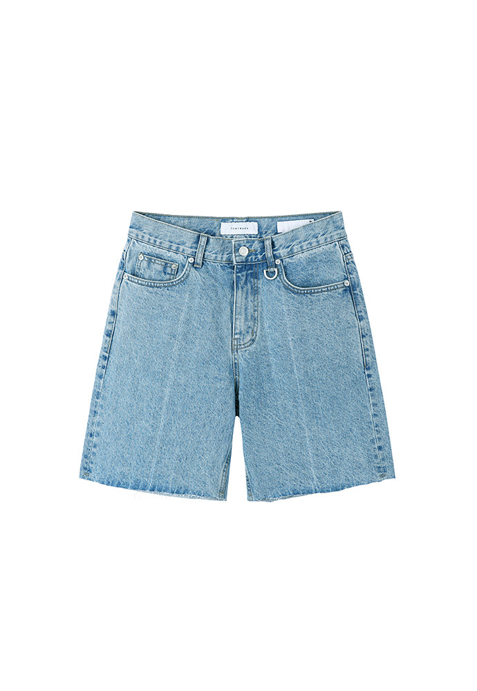 Core Denim Shorts_ Light Blue Washing
