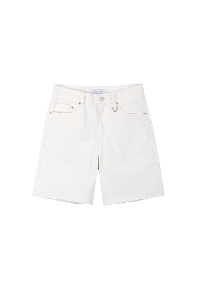 Core Denim Shorts_ Ecru