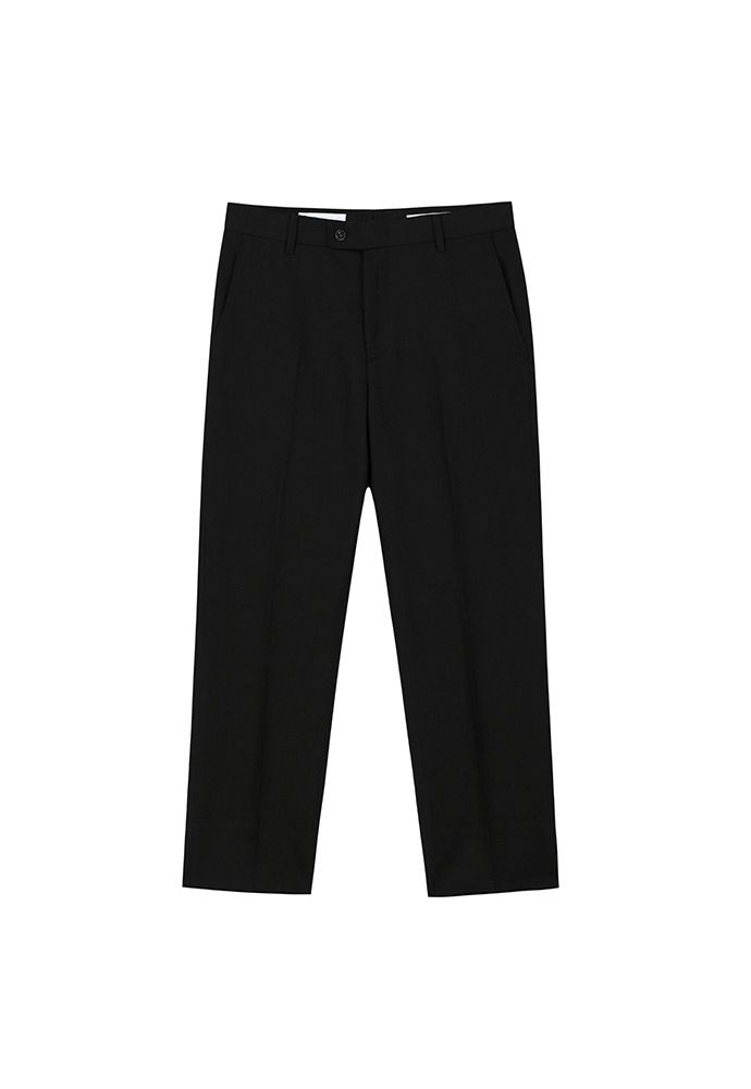 Muse Linen-cotton Trousers_ Black