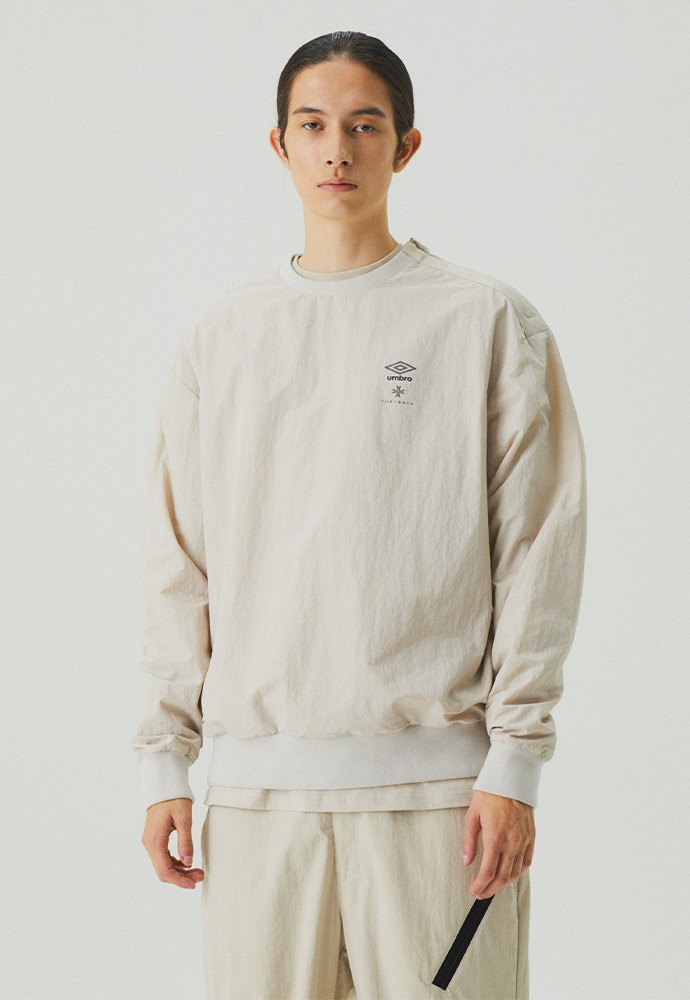 [TONYWACK X UMBRO] Woven Long Sleeve_ Cream