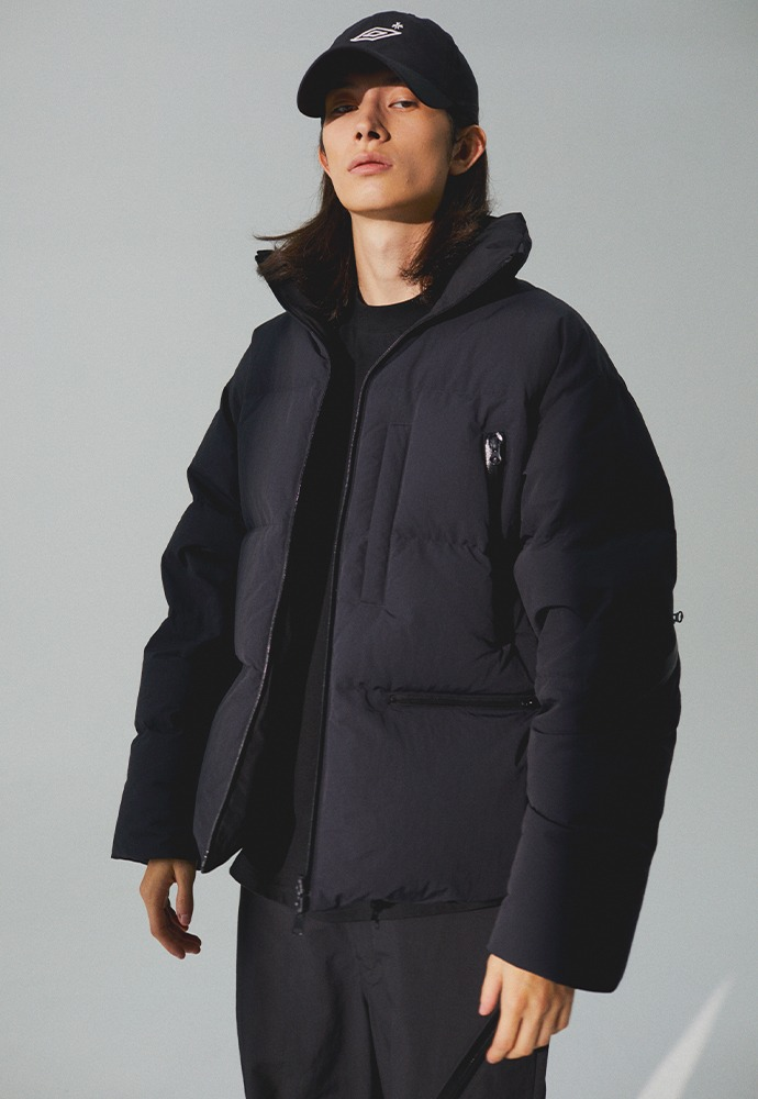 [TONYWACK X UMBRO] Reversible Goose Short Down Jacket_ Black