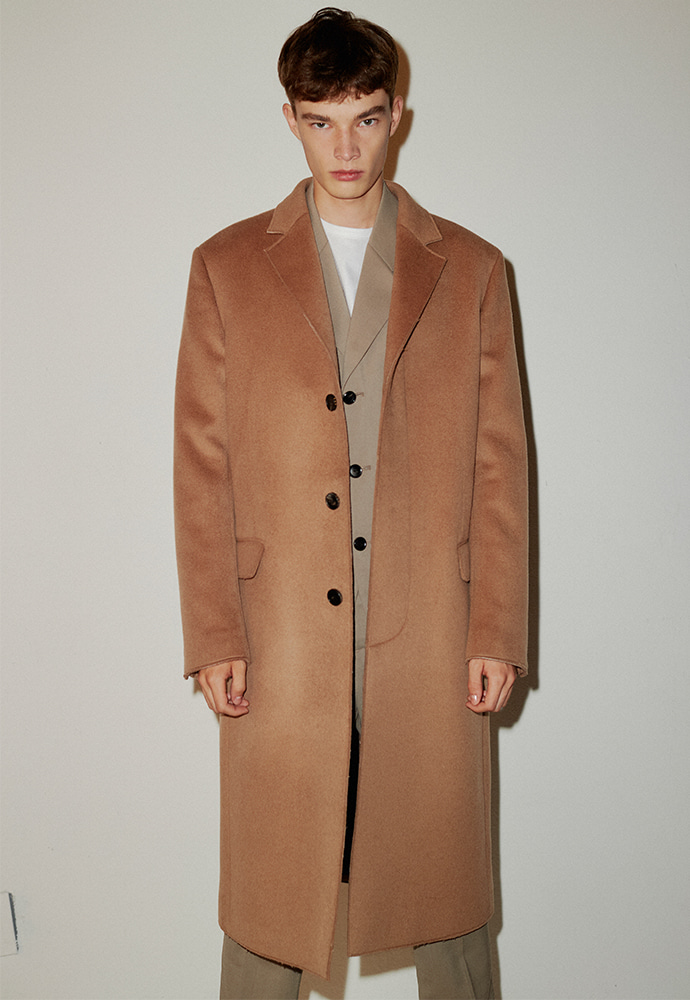 [이동휘 착용] Crudo Cashmere Cutting Coat_ Camel