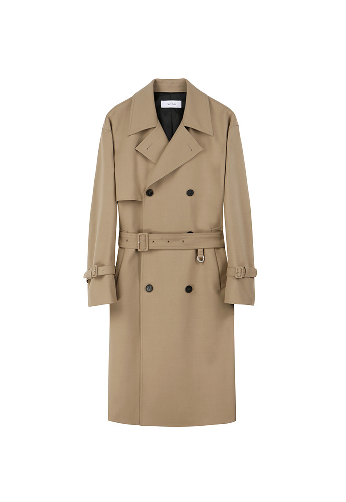Ray Wool Trench Coat_ Beige