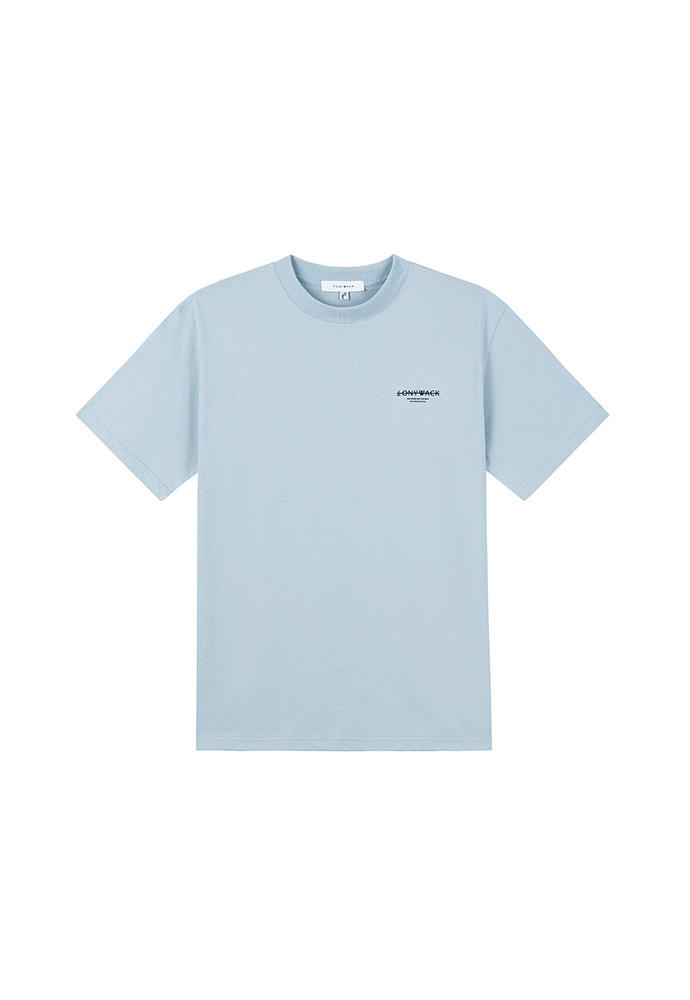 20SS Dept. Mock-Neck T-Shirt_ Grey Blue