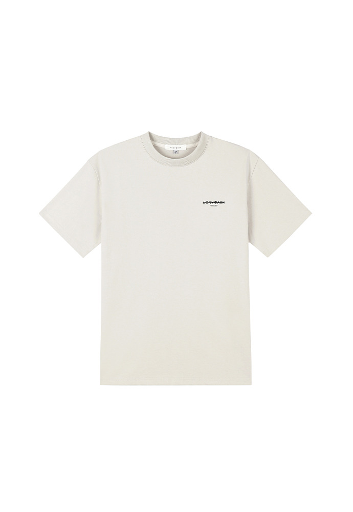 20SS Dept. Mock-Neck T-Shirt_ Light Beige