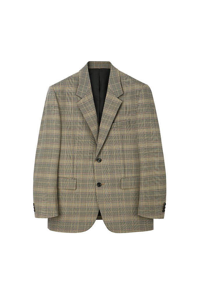 Signature 2-button Blazer_ Glen Check