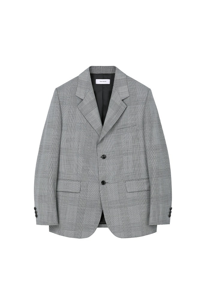Signature 2-button Single Blazer(high-twist wool 100%)_ Micro Houndstooth